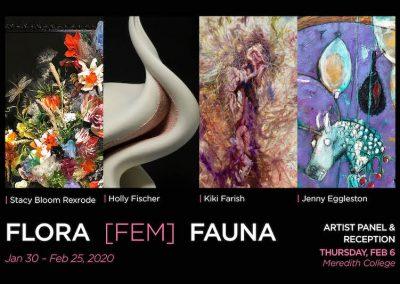Flore Fem Fauna Postcard advertising the exhibition.