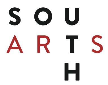 South Arts Logo with red and black letters.